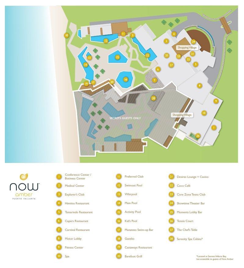 Now Amber Resort Map